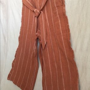 Anthropologie wide leg linen pants size M